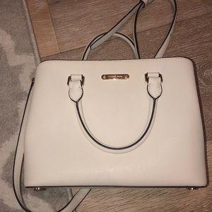 Cream medium sized Michael Kors bag